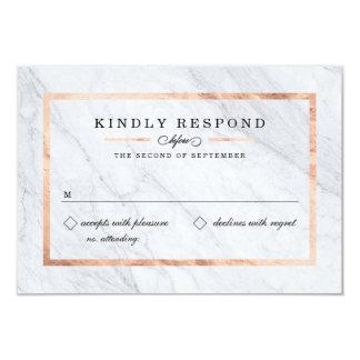 Elegant Modern Marble & Rose Gold RSVP Cards