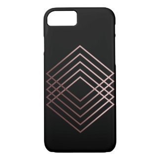 elegant modern minimal faux rose gold geometric iPhone 8/7 case