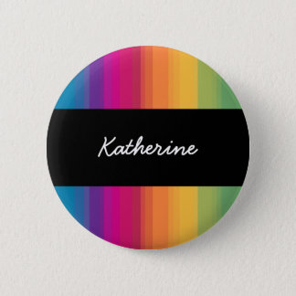 Elegant modern ombre gradient colorful rainbow 2 inch round button