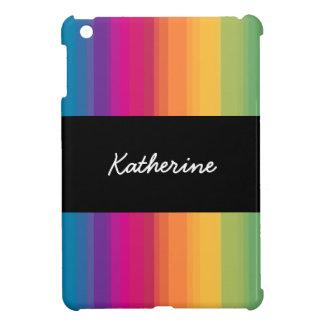 Elegant modern ombre gradient colorful rainbow case for the iPad mini