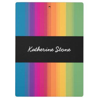 Elegant modern ombre gradient colorful rainbow clipboard