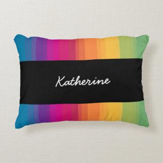 Elegant modern ombre gradient colorful rainbow decorative pillow