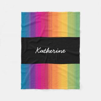 Elegant modern ombre gradient colorful rainbow fleece blanket