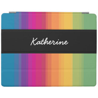 Elegant modern ombre gradient colorful rainbow iPad cover