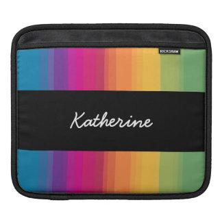 Elegant modern ombre gradient colorful rainbow iPad sleeve