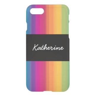 Elegant modern ombre gradient colorful rainbow iPhone 8/7 case