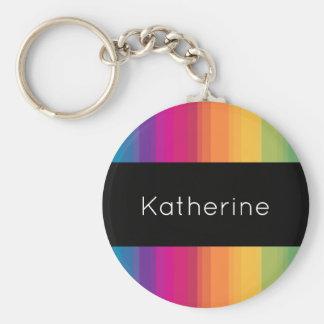 Elegant modern ombre gradient colorful rainbow keychain