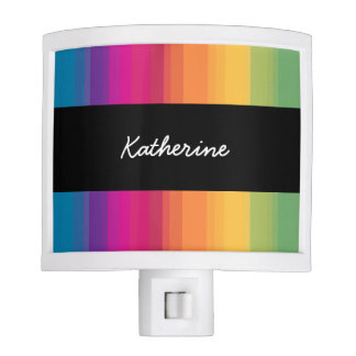 Elegant modern ombre gradient colorful rainbow nite lights