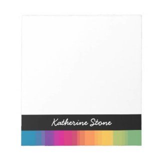 Elegant modern ombre gradient colorful rainbow notepad