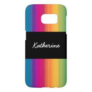 Elegant modern ombre gradient colorful rainbow samsung galaxy s7 case