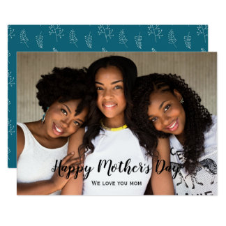 Elegant Modern Photo Mother's Day Card