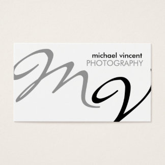 Elegant / Modern Photography Business Card