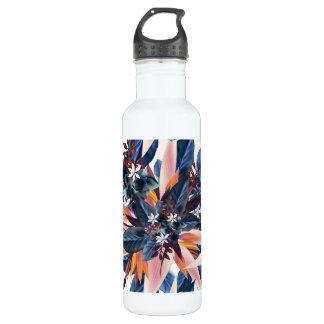 Elegant modern pointy leaf art painting 710 ml water bottle