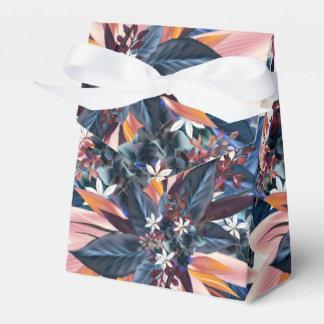 Elegant modern pointy leaf art painting favor box