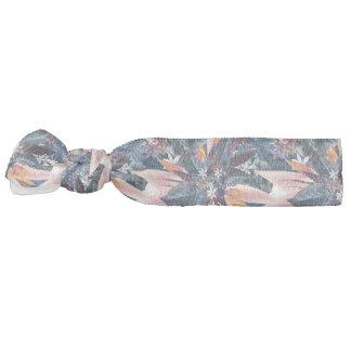 Elegant modern pointy leaf art painting hair tie