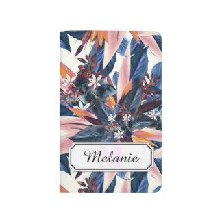 Elegant modern pointy leaf art painting journal