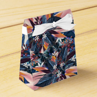 Elegant modern pointy leaf art painting party favor boxes