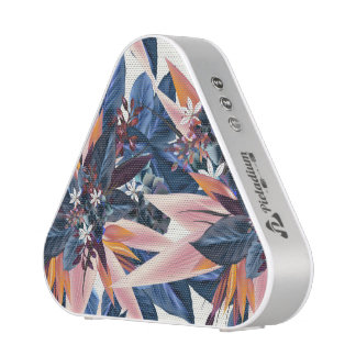 Elegant modern pointy leaf art painting speaker