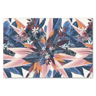 Elegant modern pointy leaf art painting tissue paper