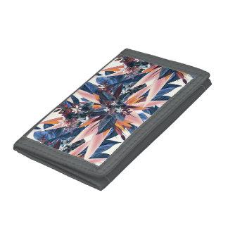 Elegant modern pointy leaf art painting tri-fold wallet