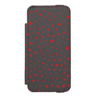 Elegant Modern Polka Dots -Red- Customize BG Incipio Watson™ iPhone 5 Wallet Case