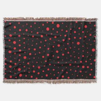 Elegant Modern Polka Dots -Red- Customize BG Throw Blanket