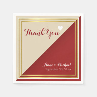 elegant & modern reddish wedding disposable napkin