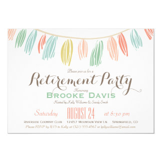 Elegant, Modern Retirement Party Invitation