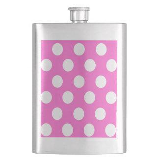 Elegant modern romantic polka dots pink flask