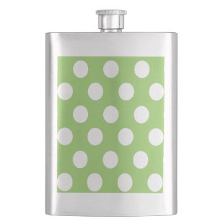 Elegant modern romantic polka green flask