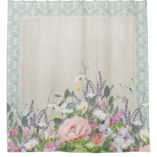 Elegant Modern Shabby Country Chic Floral Peonies