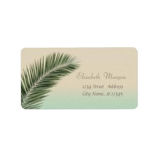 Elegant Modern Stylish,Palm Leaves Label