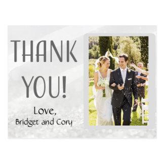 Elegant Modern Thank You for Wedding Postcard