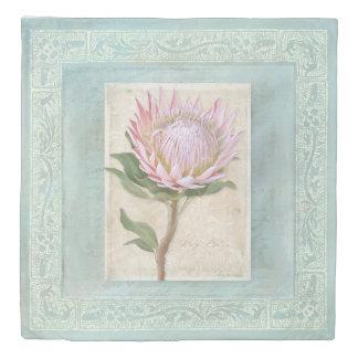Elegant Modern Vintage Chic King Protea Floral Duvet Cover