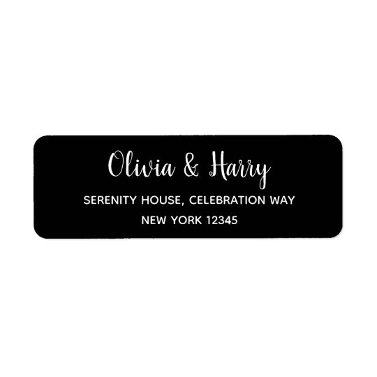 Elegant Modern Wedding Return Address Labels
