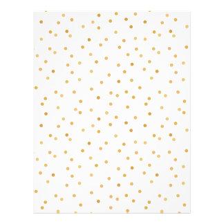 Elegant Modern White and Gold Confetti Dots Letterhead