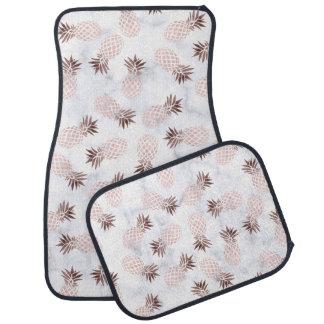 elegant modern white marble rose gold pineapple car floor carpet