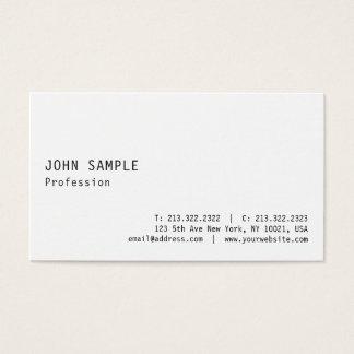 Elegant Modern White Professional Smart Plain Business Card