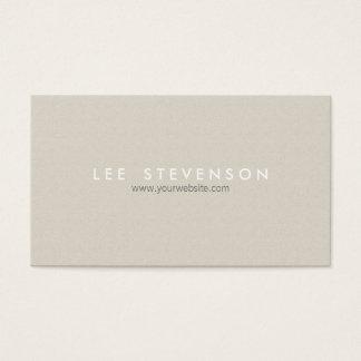 Élégant moderne beige simple de Minimalistic Cartes De Visite