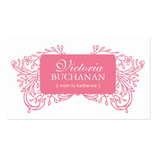 Elegant Mommy Photo Card Business Card