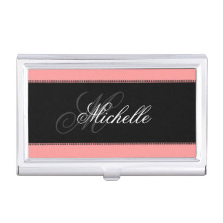Elegant Monogram Business Card Holders