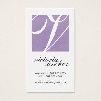 Elegant Monogram Calling Cards