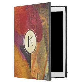 Elegant Monogram Color Abstract Art iPad Case