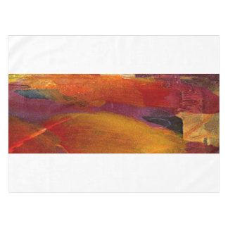 Elegant Monogram Colorful Abstract Art Burgundy Tablecloth