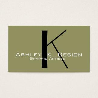 Elegant Monogram Customizable Business Card