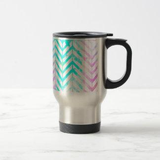 Elegant Monogram Floral pink and blue Travel Mug
