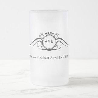 Elegant Monogram Groomsmen Gift Mug