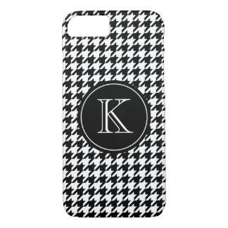 Elegant monogram houndstooth pattern iPhone 7 case