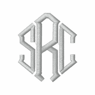 Elegant Monogram Initials Embroidered Shirt