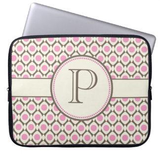 Elegant Monogram Modern Pattern Laptop Bag